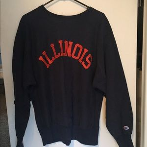 University of Illinois Vintage Champion Crewneck